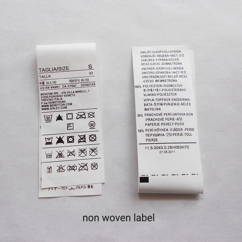 non woven printed label